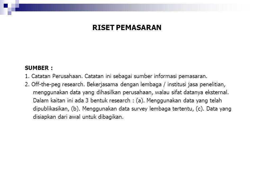 RISET PEMASARAN SUMBER :