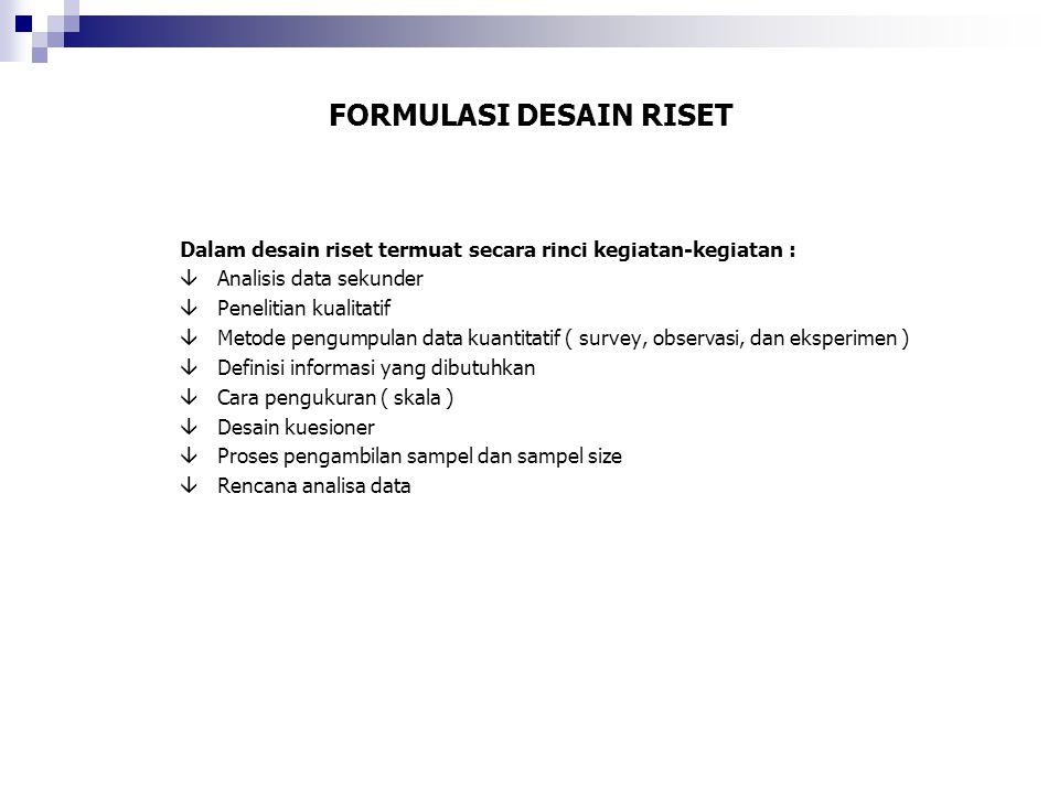 FORMULASI DESAIN RISET