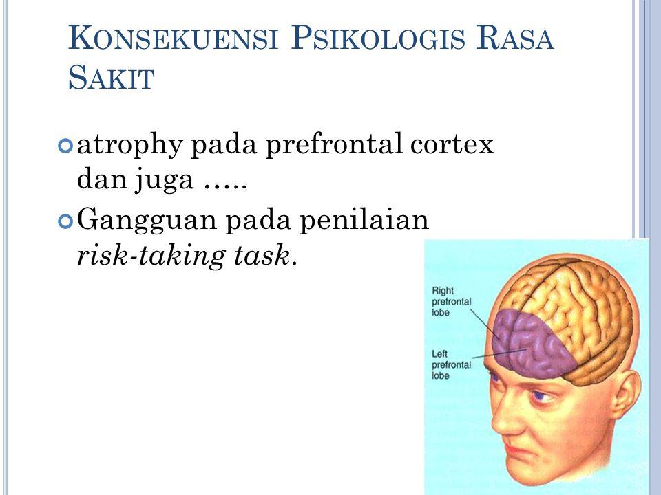 Konsekuensi Psikologis Rasa Sakit