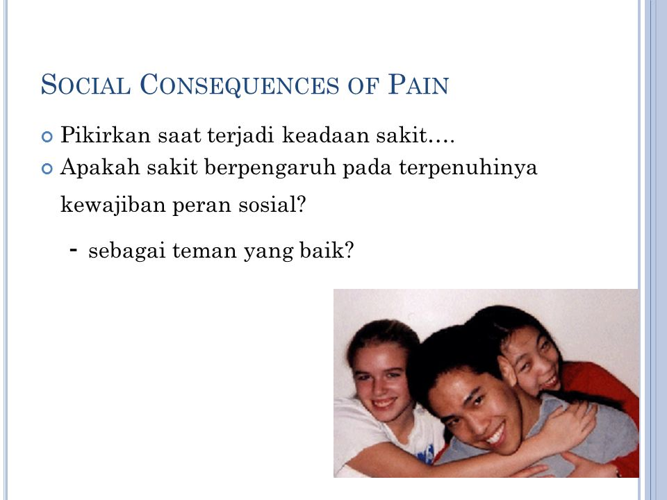 Social Consequences of Pain