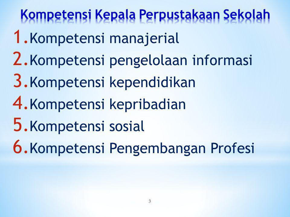 Kompetensi Kepala Perpustakaan Sekolah
