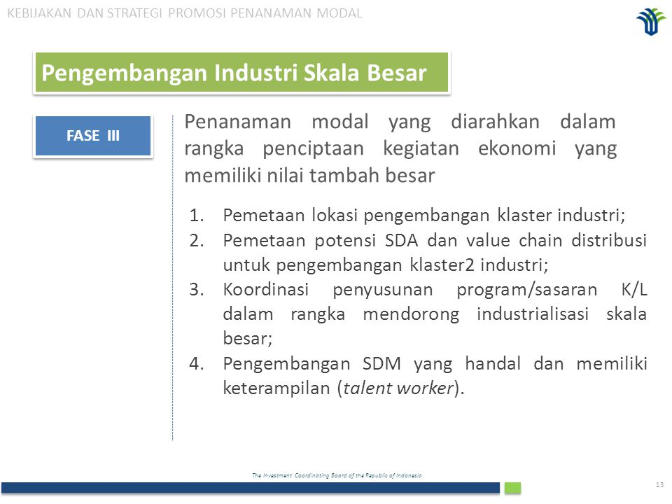 Pengembangan Industri Skala Besar