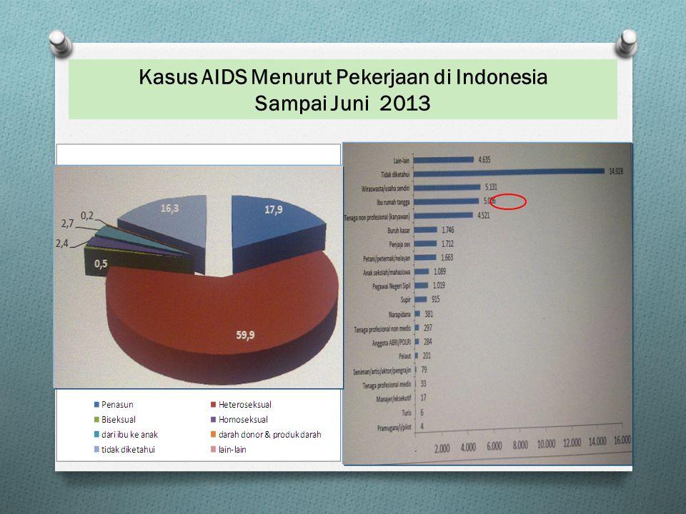 Kasus AIDS Menurut Pekerjaan di Indonesia