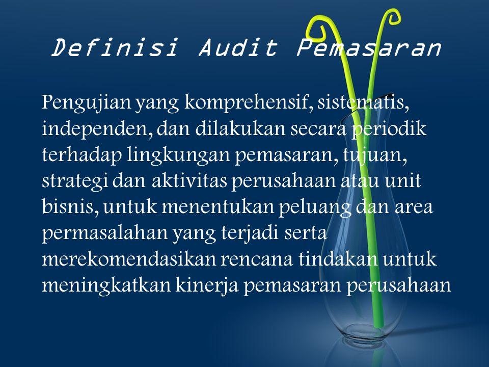 Definisi Audit Pemasaran