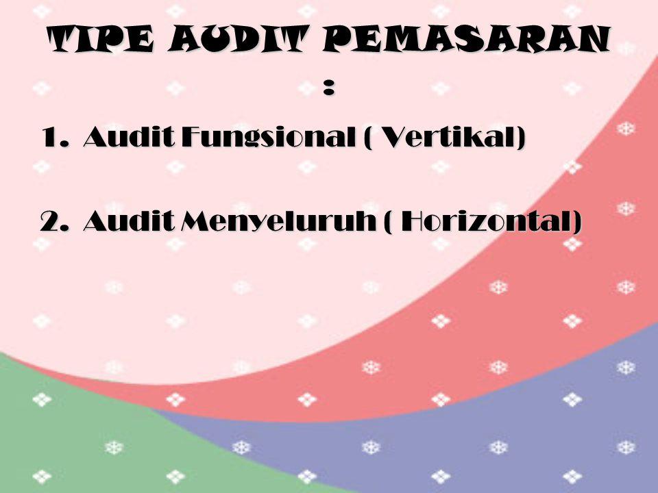 TIPE AUDIT PEMASARAN : Audit Fungsional ( Vertikal)