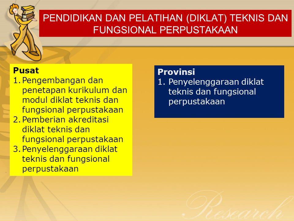 PENDIDIKAN DAN PELATIHAN (DIKLAT) TEKNIS DAN FUNGSIONAL PERPUSTAKAAN