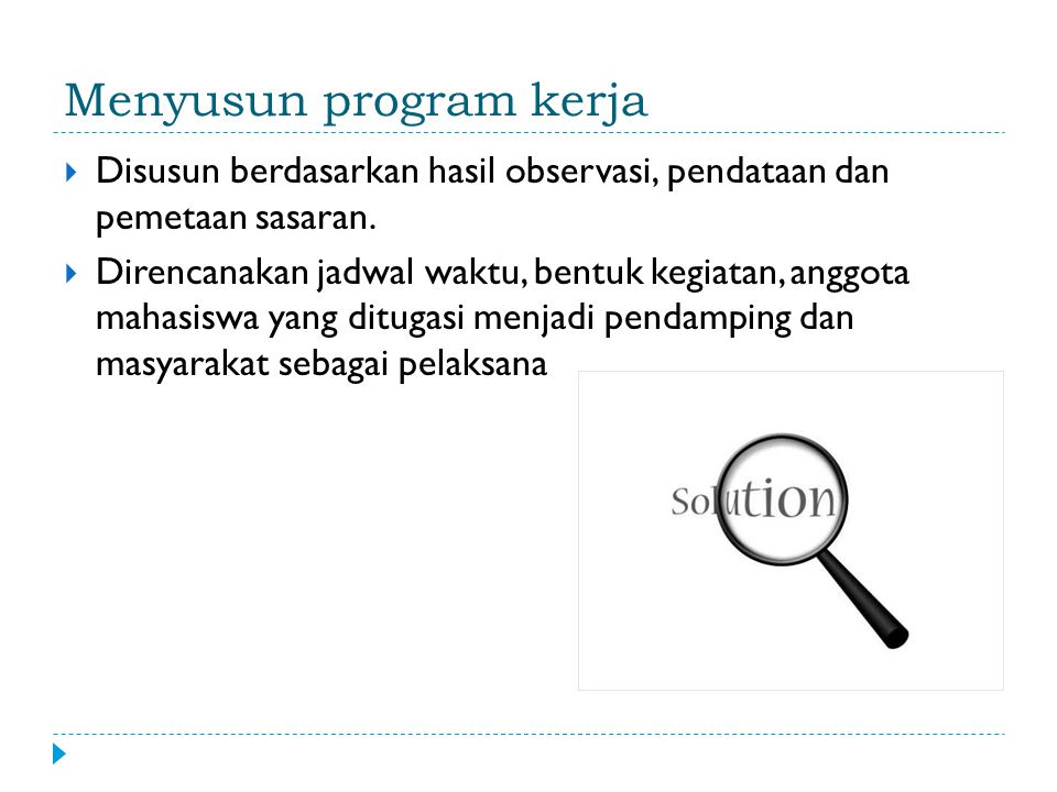 Menyusun program kerja