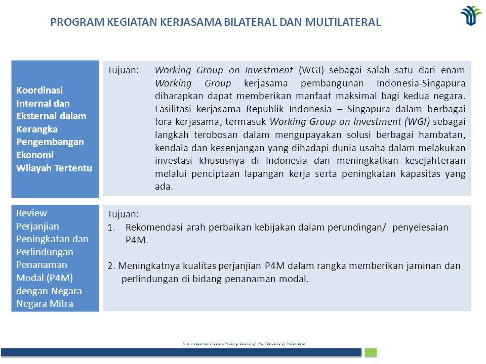 PROGRAM KEGIATAN KERJASAMA BILATERAL DAN MULTILATERAL