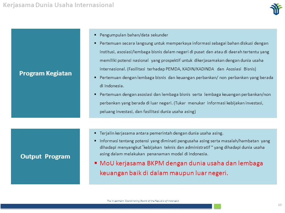 Program Kegiatan Output Program