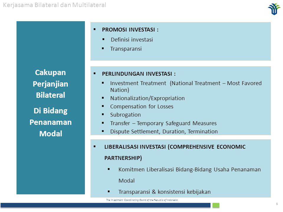 Cakupan Perjanjian Bilateral