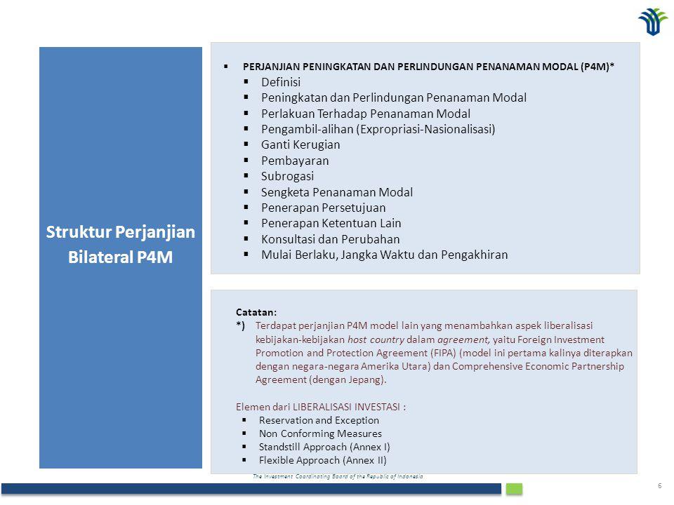 Struktur Perjanjian Bilateral P4M
