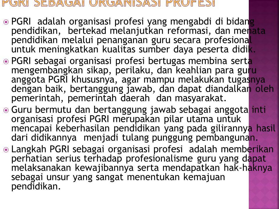 PGRI Sebagai Organisasi Profesi