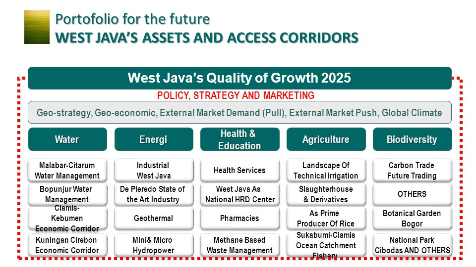 West Java's Quality of Growth 2025 POLICY, STRATEGY AND MARKETING