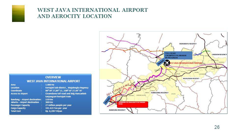 WEST JAVA INTERNATIONAL AIRPORT AND AEROCITY LOCATION