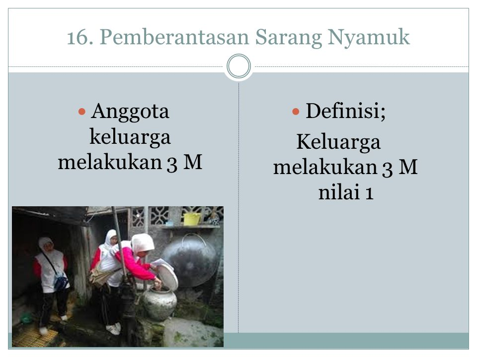 16. Pemberantasan Sarang Nyamuk