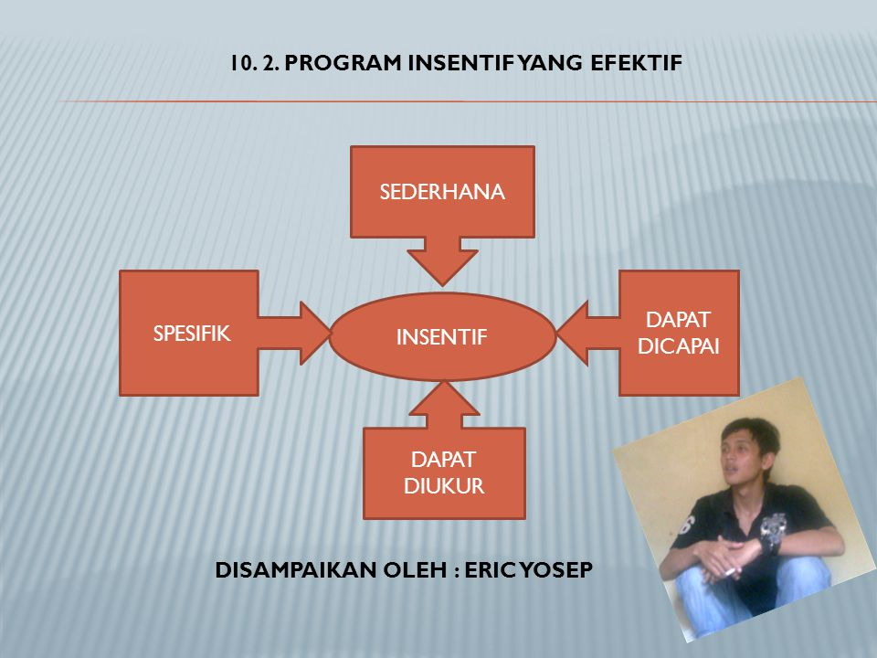 10. 2. PROGRAM INSENTIF YANG EFEKTIF