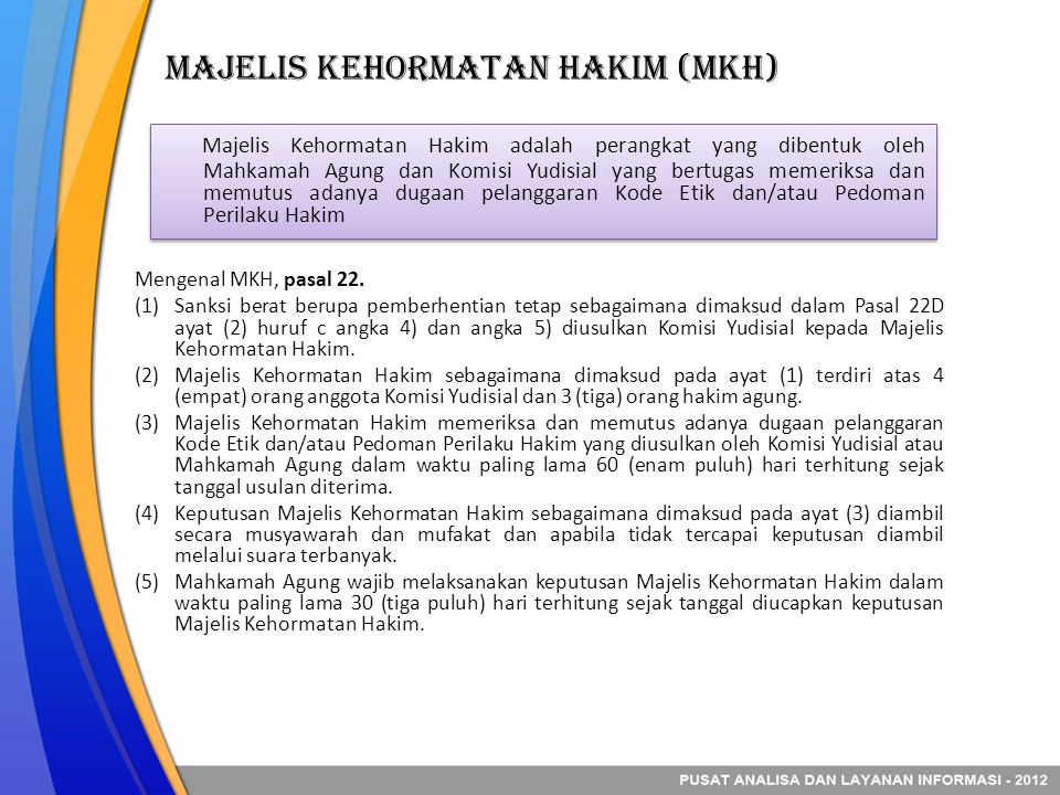 Majelis Kehormatan Hakim (MKH)