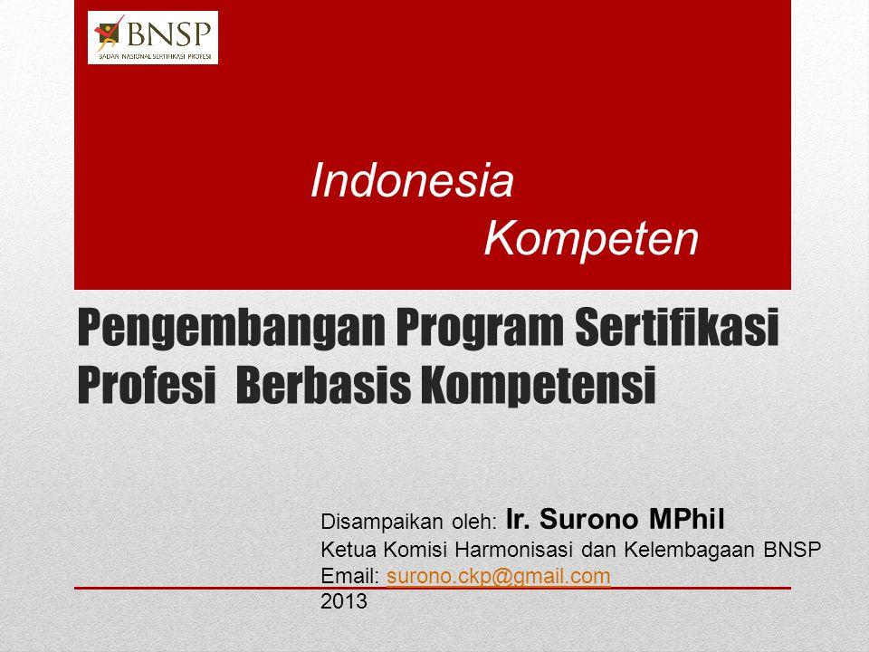 Pengembangan Program Sertifikasi Profesi Berbasis Kompetensi