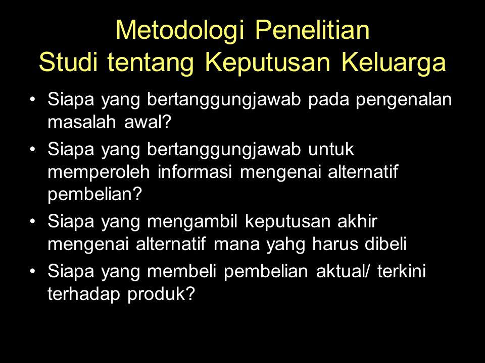 Metodologi Penelitian Studi tentang Keputusan Keluarga