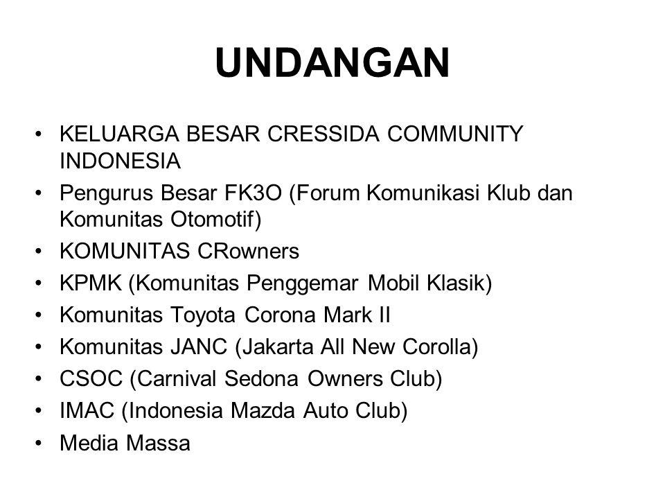 UNDANGAN KELUARGA BESAR CRESSIDA COMMUNITY INDONESIA