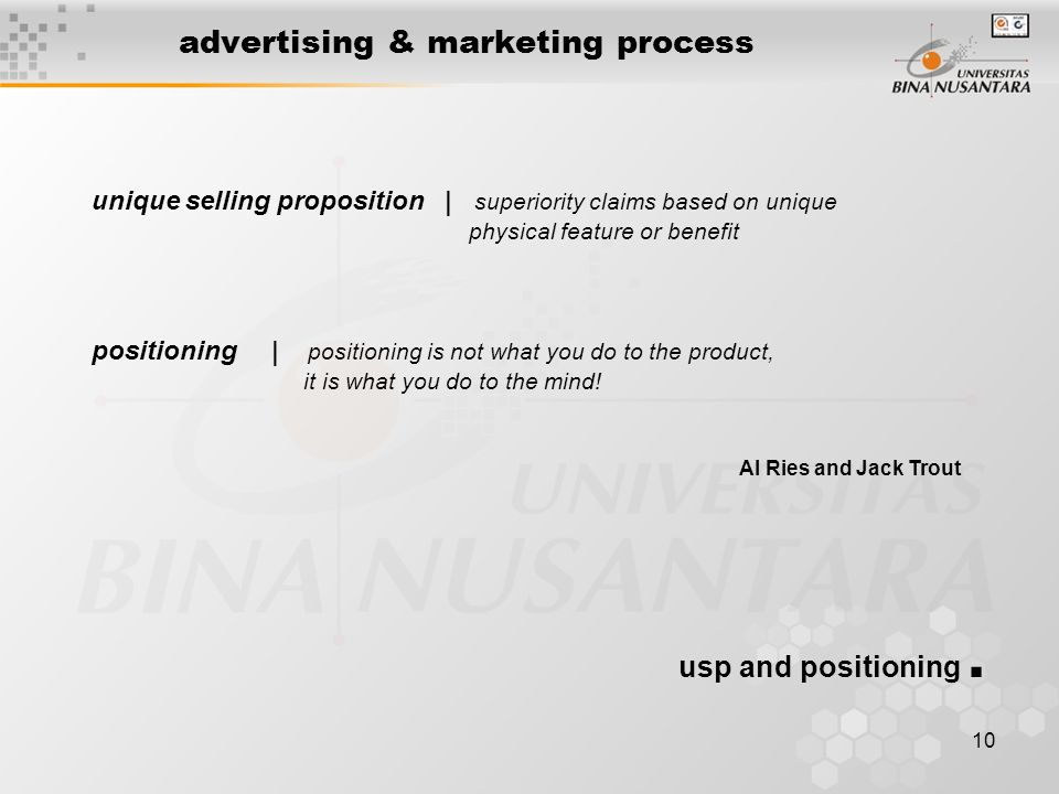 advertising & marketing process
