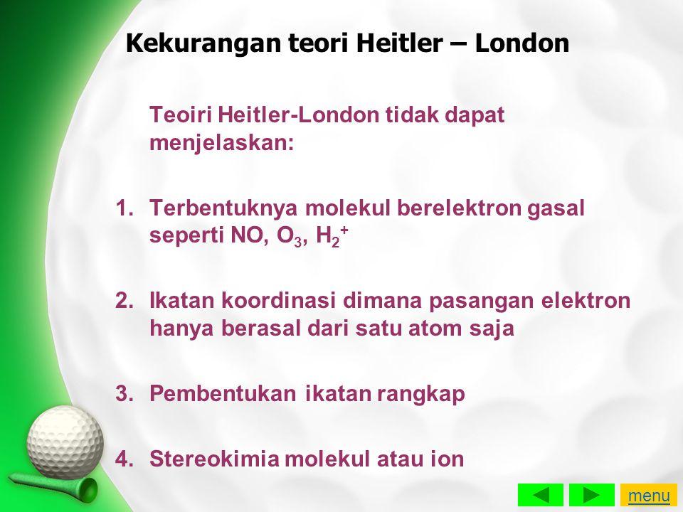 Kekurangan teori Heitler – London
