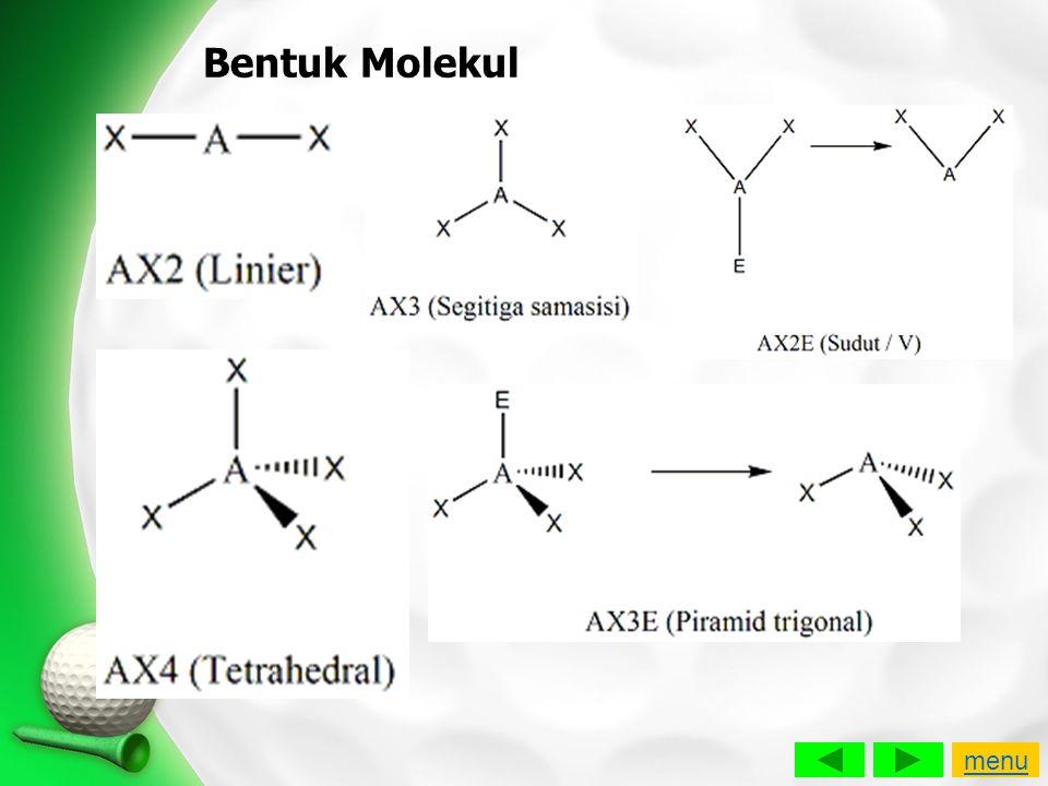 Bentuk Molekul menu