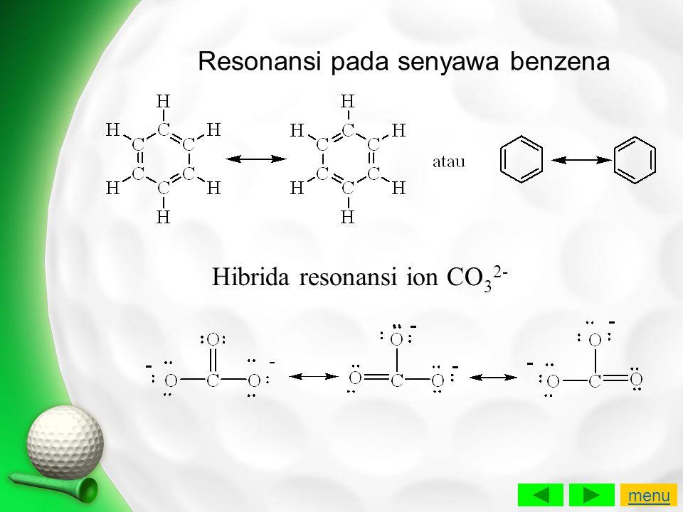 Resonansi pada senyawa benzena