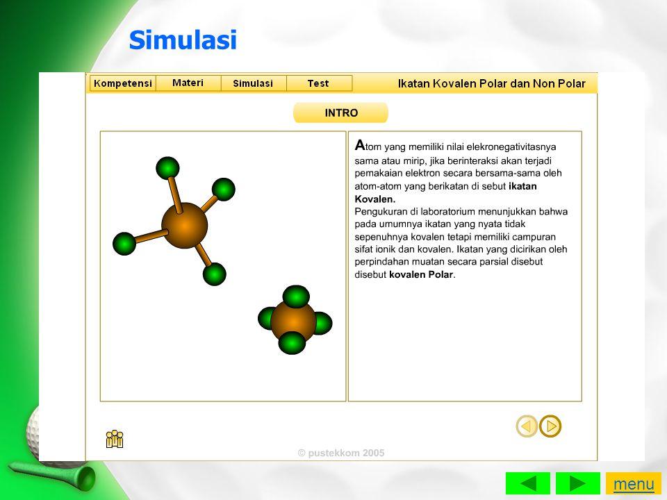 Simulasi menu