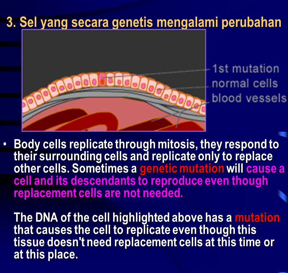 3. Sel yang secara genetis mengalami perubahan