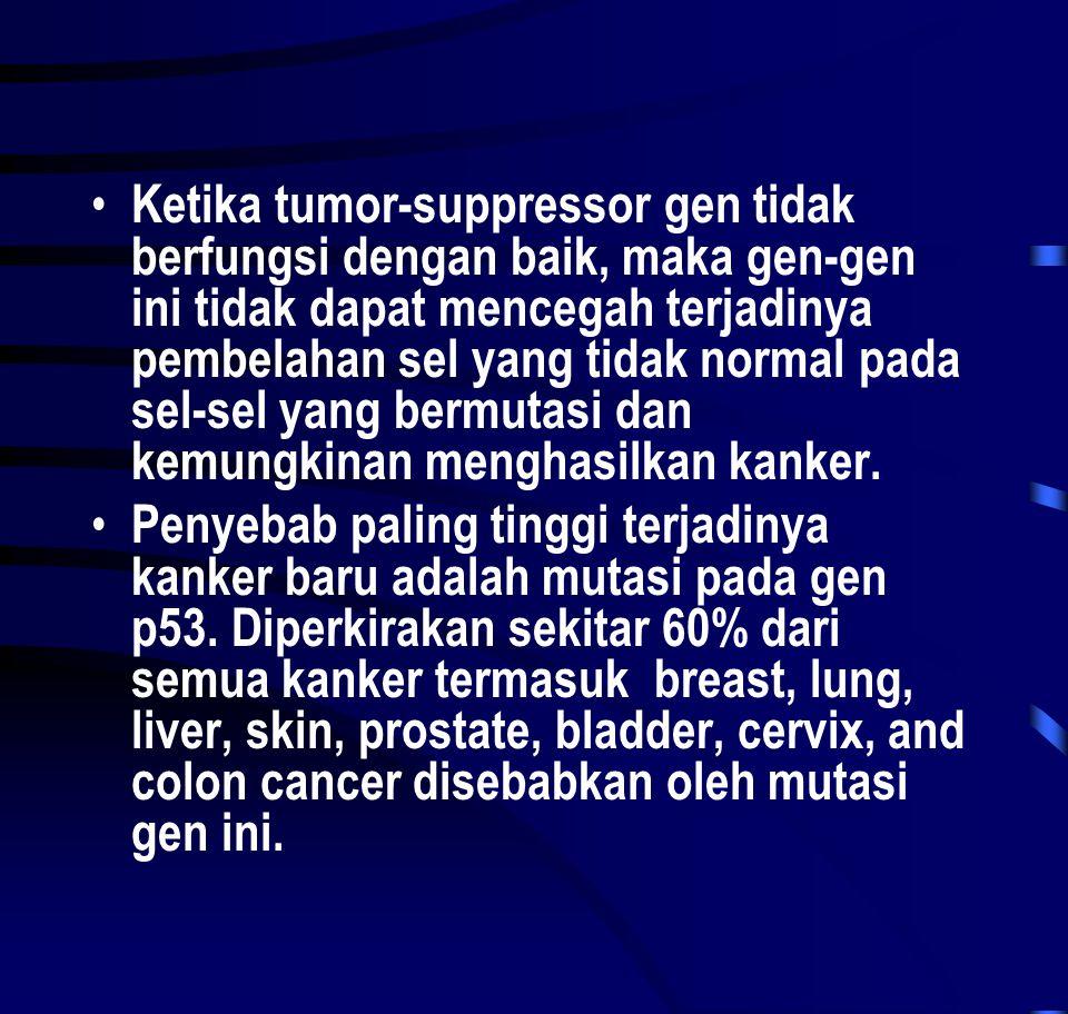 Ketika tumor-suppressor gen tidak berfungsi dengan baik, maka gen-gen ini tidak dapat mencegah terjadinya pembelahan sel yang tidak normal pada sel-sel yang bermutasi dan kemungkinan menghasilkan kanker.