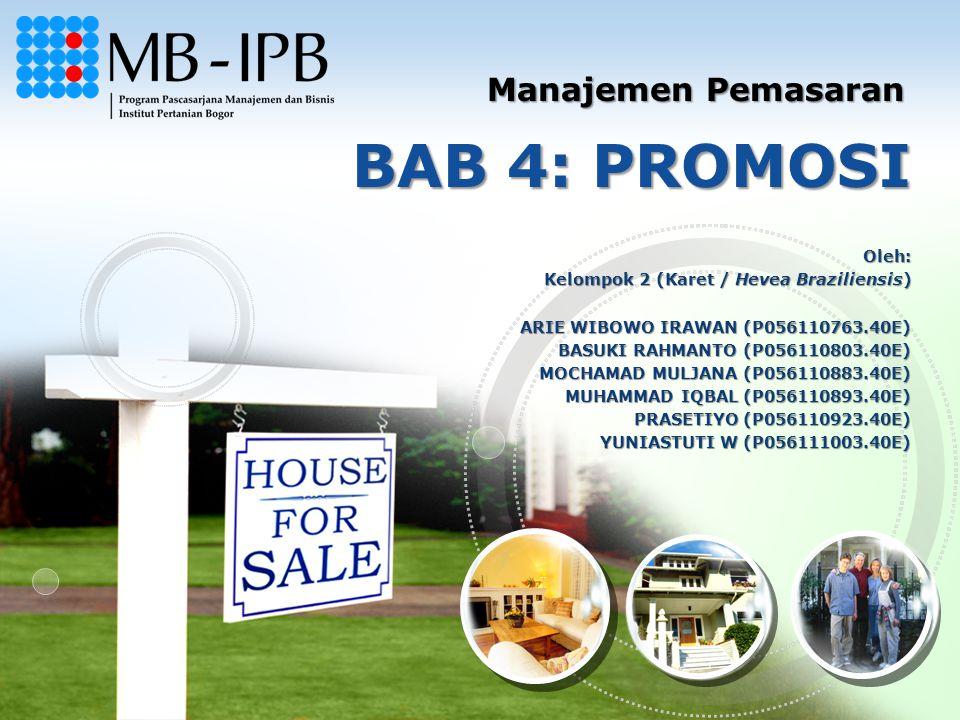 BAB 4: PROMOSI Manajemen Pemasaran