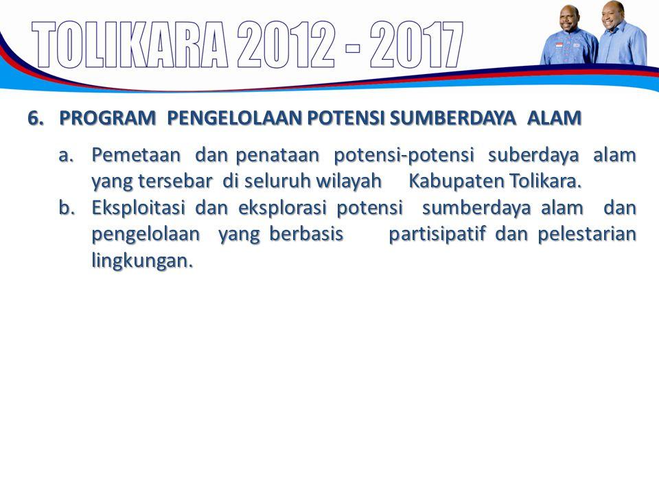 6. PROGRAM PENGELOLAAN POTENSI SUMBERDAYA ALAM