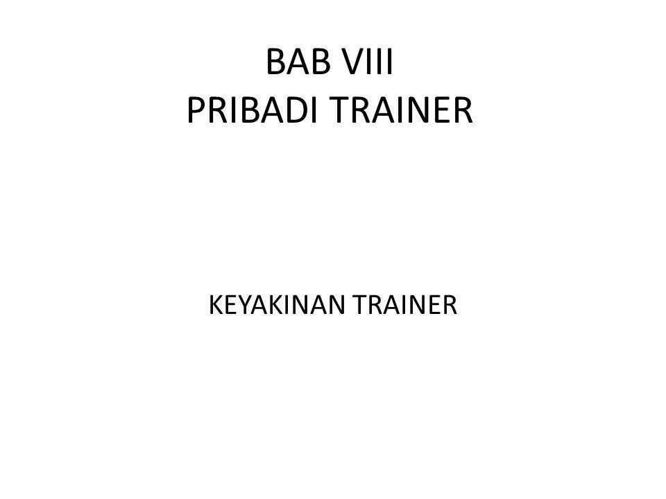 BAB VIII PRIBADI TRAINER
