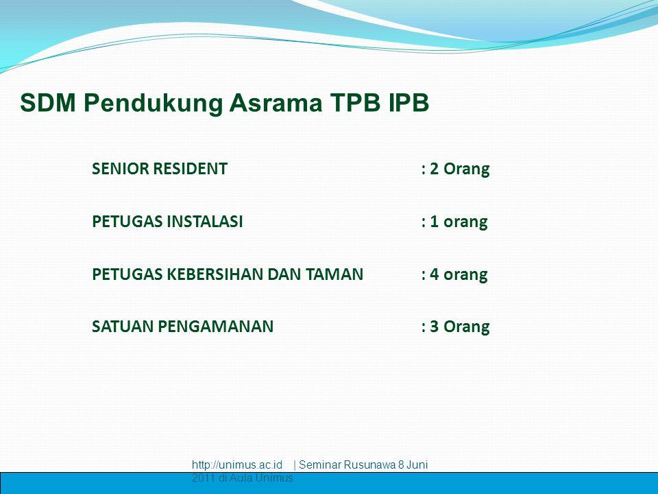 SDM Pendukung Asrama TPB IPB