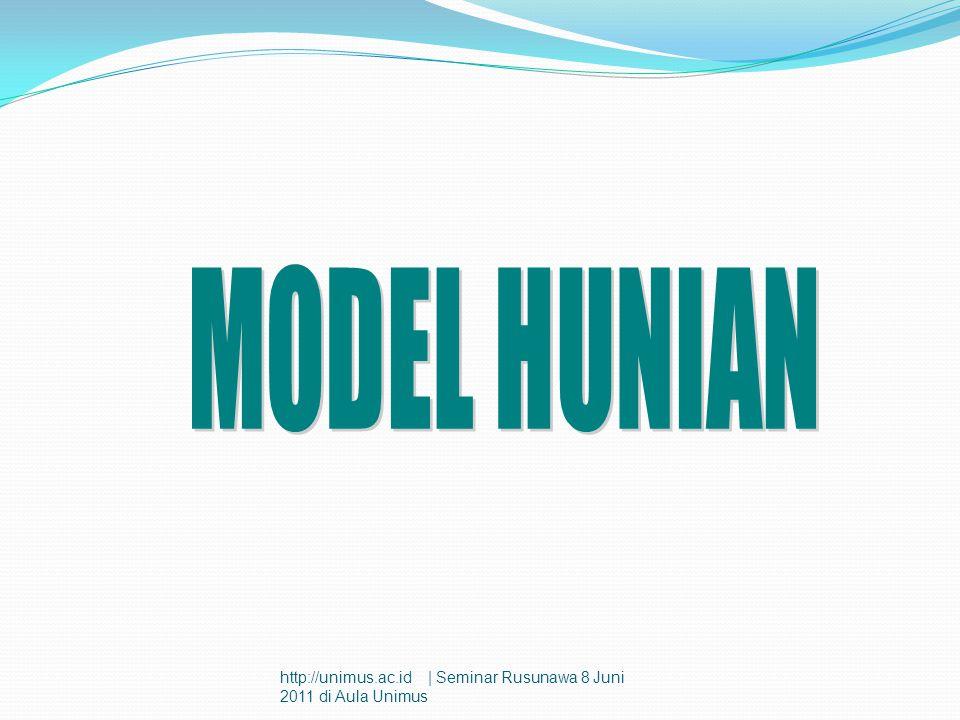 MODEL HUNIAN http://unimus.ac.id | Seminar Rusunawa 8 Juni 2011 di Aula Unimus