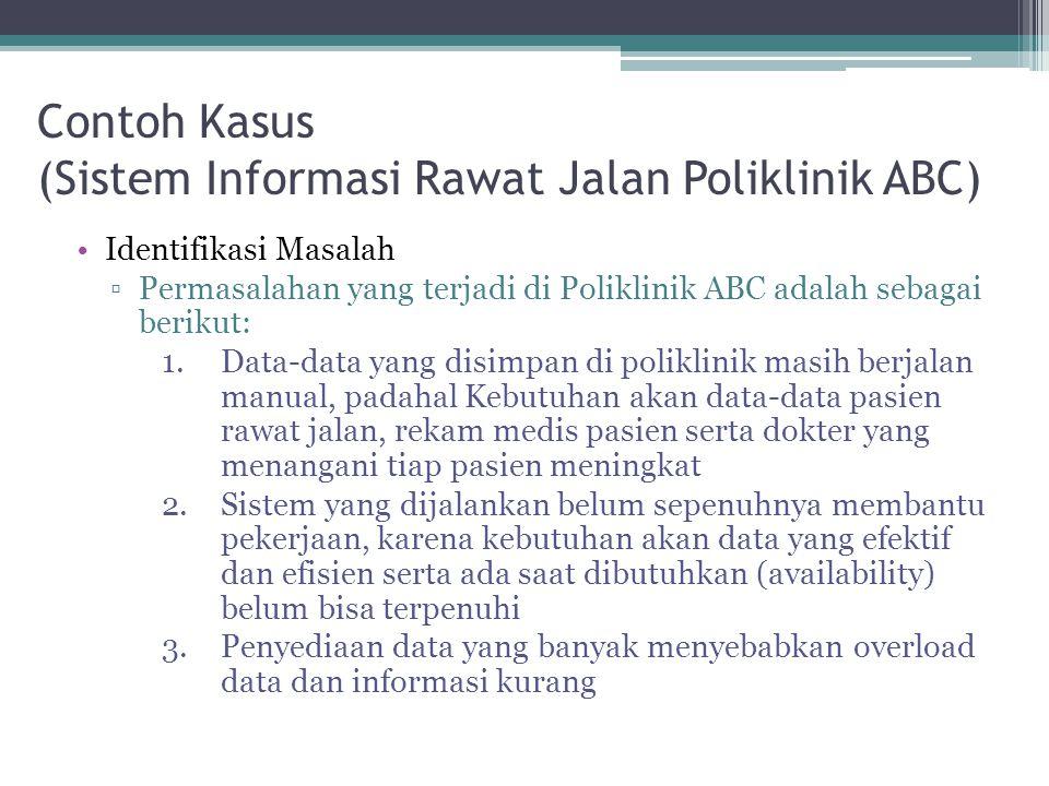 Contoh Kasus (Sistem Informasi Rawat Jalan Poliklinik ABC)