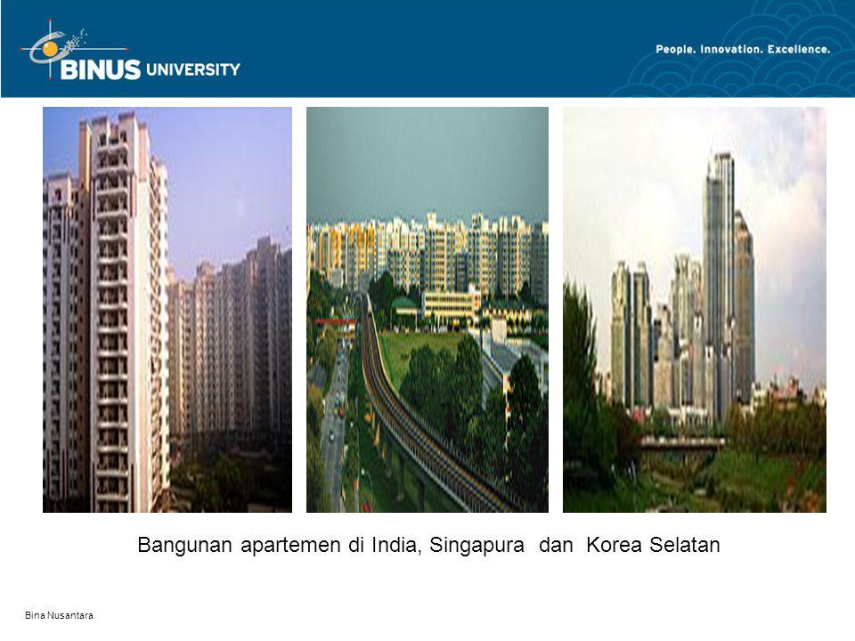Bangunan apartemen di India, Singapura dan Korea Selatan