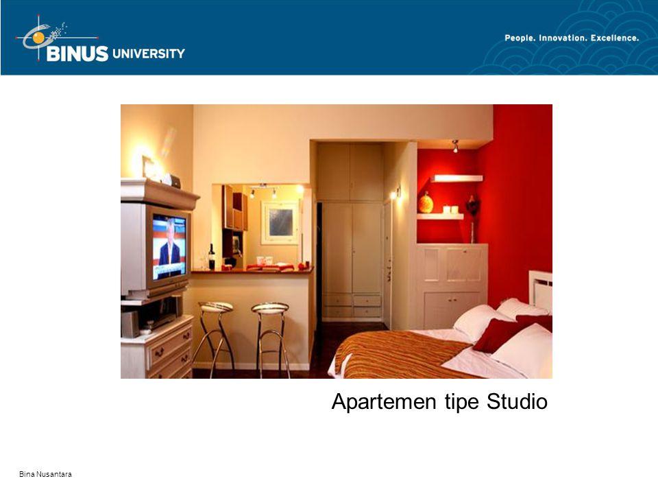 Apartemen tipe Studio Bina Nusantara