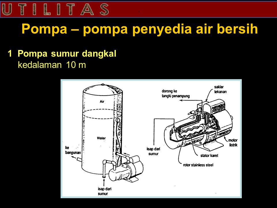 Pompa – pompa penyedia air bersih