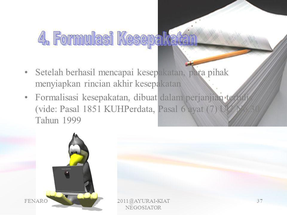 4. Formulasi Kesepakatan