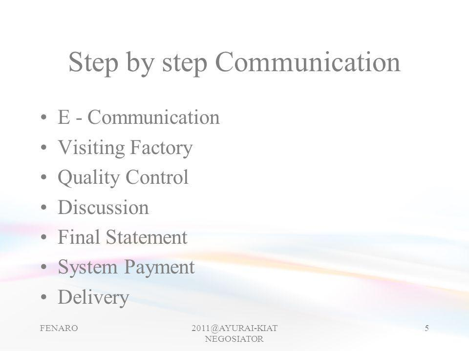 Step by step Communication