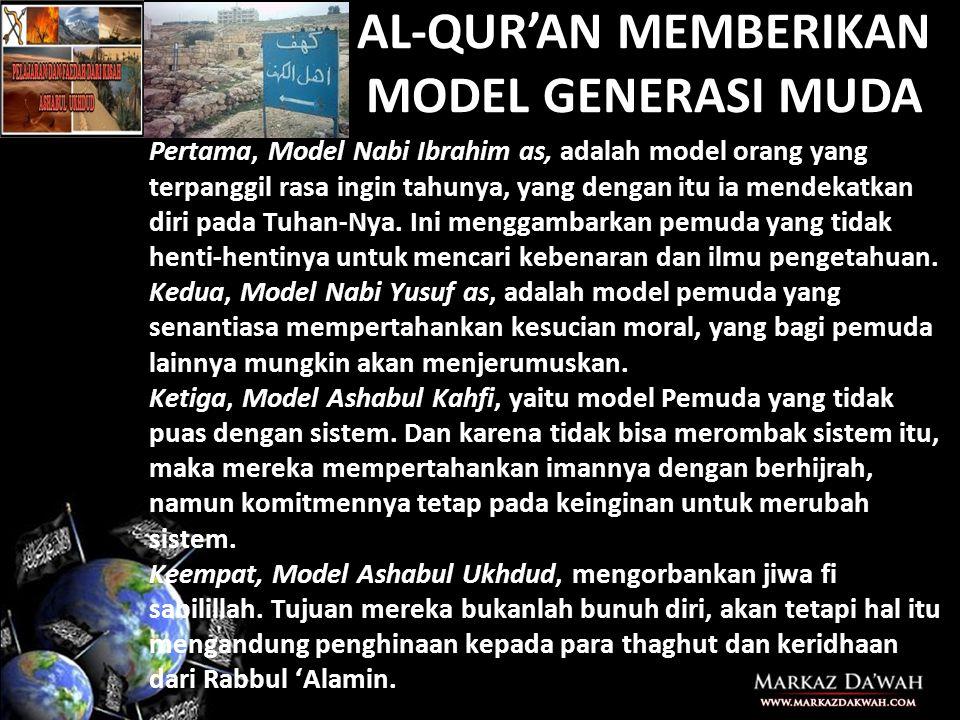AL-QUR'AN MEMBERIKAN MODEL GENERASI MUDA