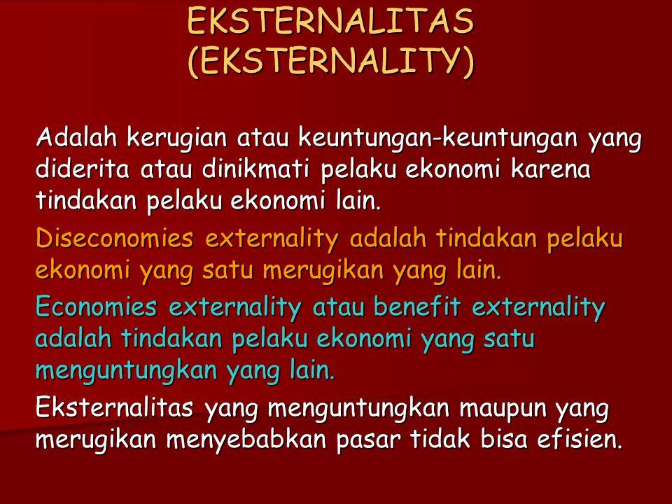 EKSTERNALITAS (EKSTERNALITY)