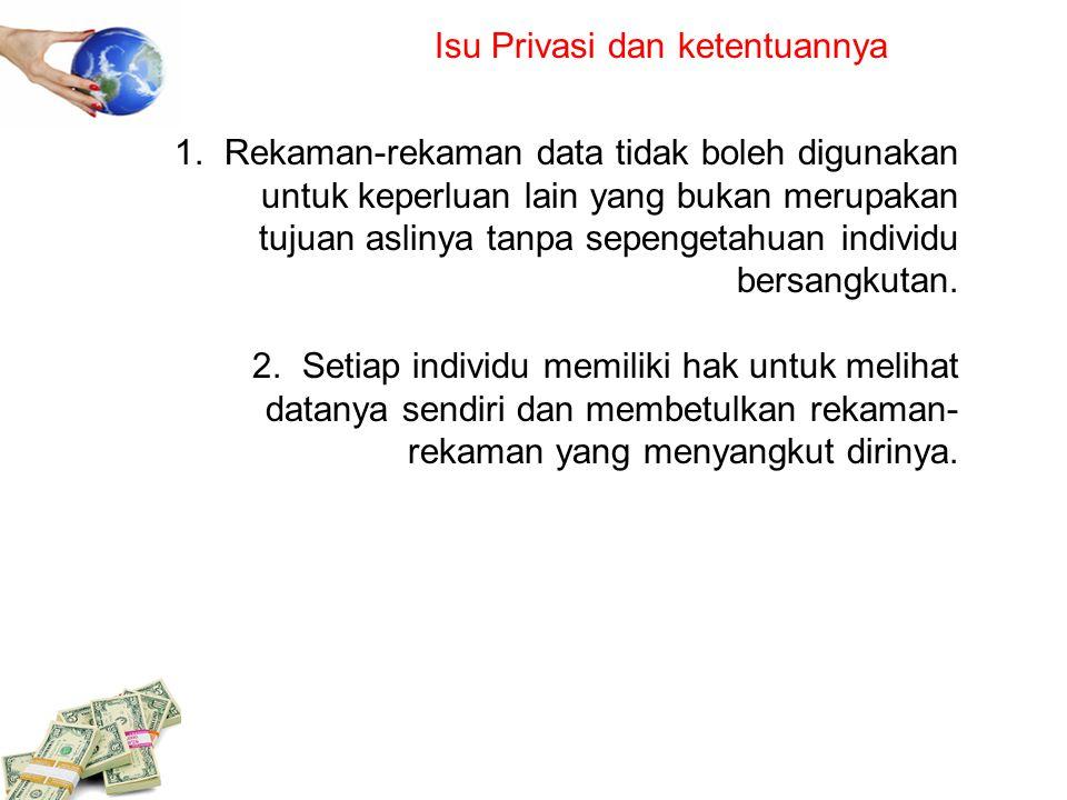 Isu Privasi dan ketentuannya
