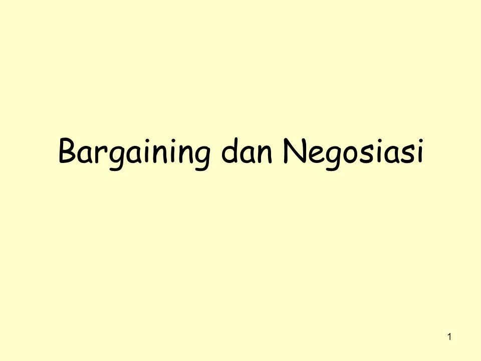 Bargaining dan Negosiasi
