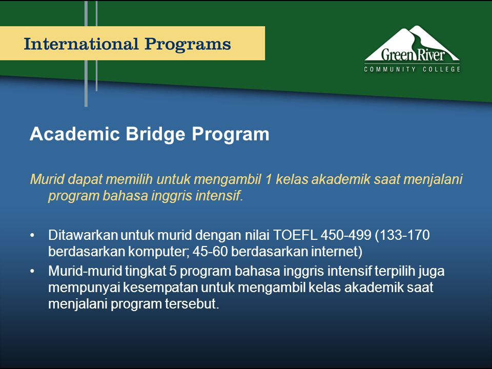 Academic Bridge Program