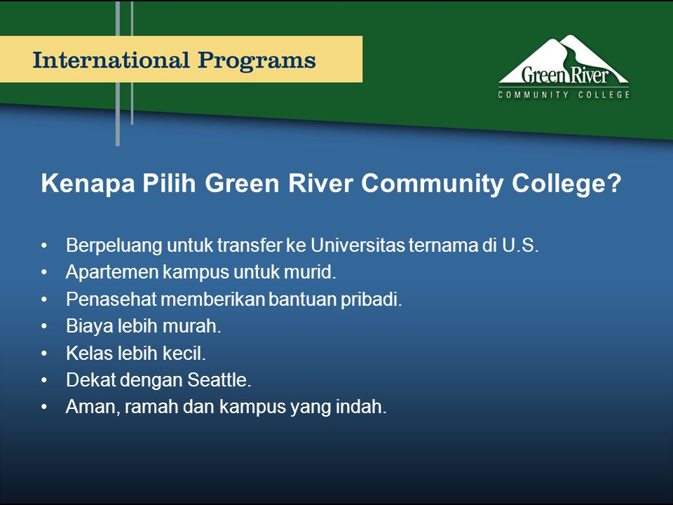 Kenapa Pilih Green River Community College