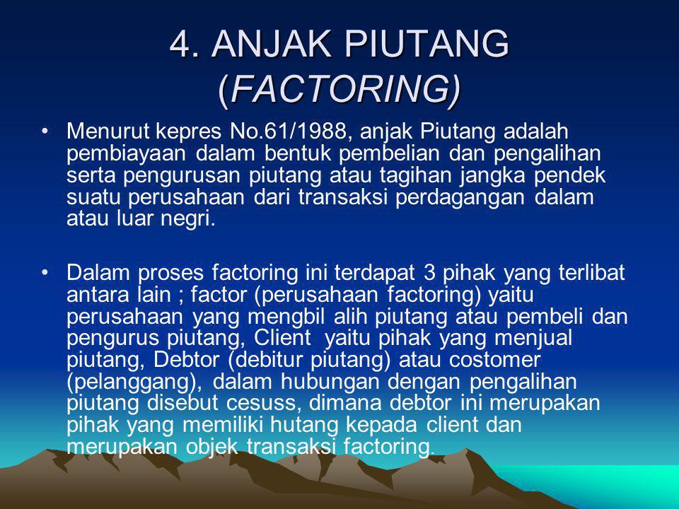 4. ANJAK PIUTANG (FACTORING)