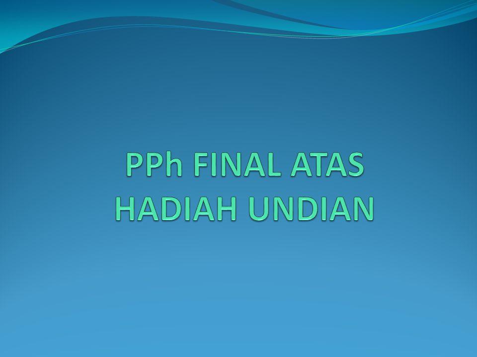 PPh FINAL ATAS HADIAH UNDIAN